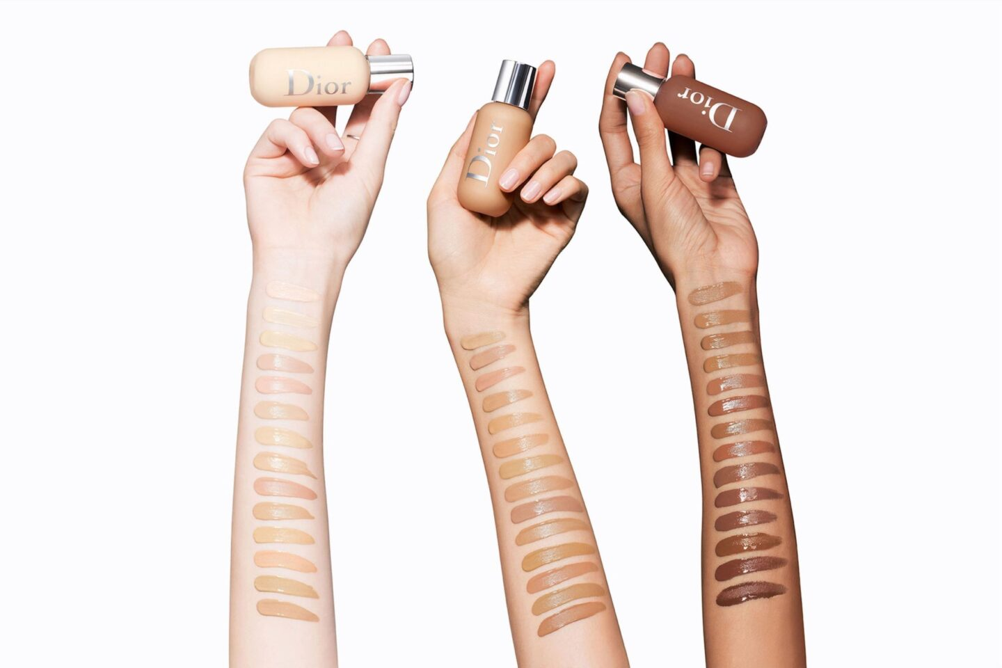 DIOR Backstage Foundation Swatches