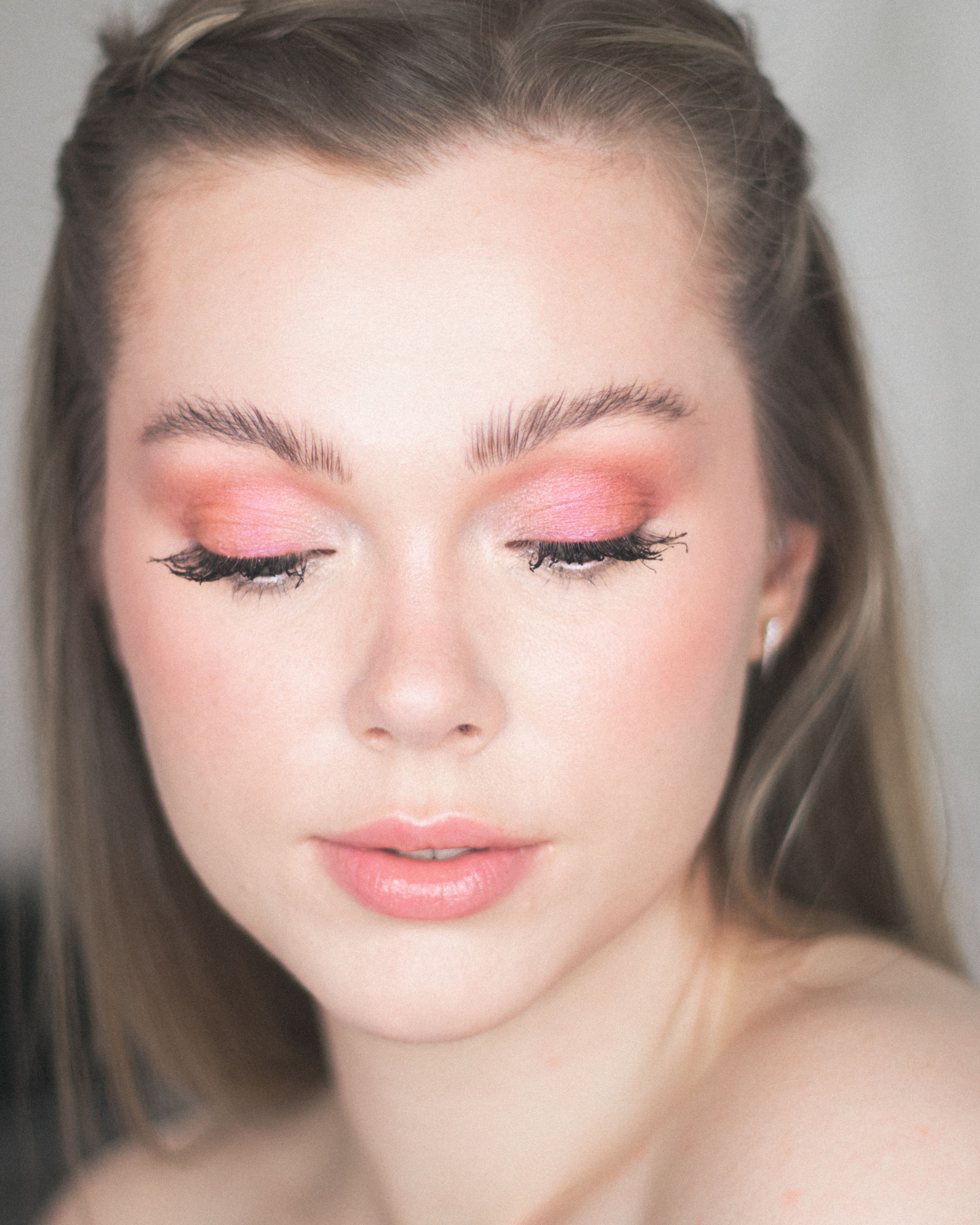 Pink Eyeshadow Look Using Hourglass Blush, LL Romantic Rose-4
